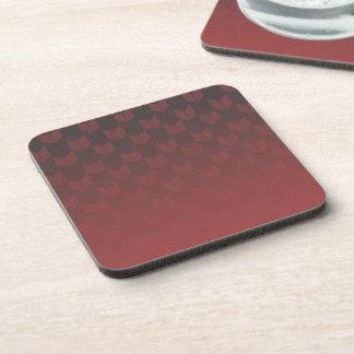 Red Gradient Hard Plastic coasters - set of 6