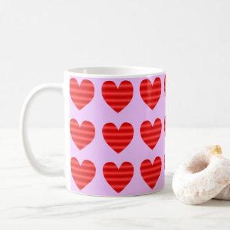 Red Gradient Hearts Coffee Mug