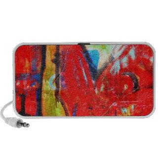 red graffiti Doodle Portable Speaker