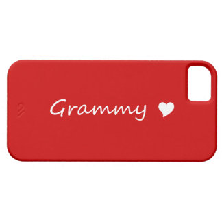 Red Grammy With Heart Barely There iPhone 5 Case