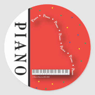 Red Grand Piano Stickers