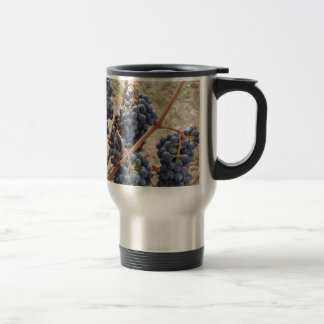 Red grapes on the vine . Tuscany, Italy Travel Mug