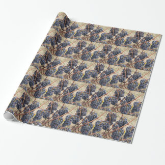 Red grapes on the vine . Tuscany, Italy Wrapping Paper