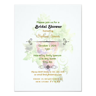 Red Grapes Watercolor Bridal Shower Invitation