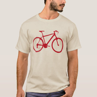 red graphic-bike bicycle, cycling T-Shirt