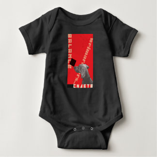 RED GRAPHIC WEIM BABY BODYSUIT BLACK BY BLU WEIM