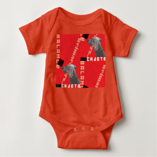 RED GRAPHIC WEIM BABY JERSEY BODYSUIT BY BLU WEIM
