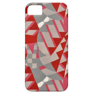 Red gray 1920s Deco design Case For iPhone 5/5S