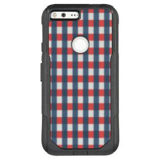 Red Gray Blue Plaid OtterBox Commuter Google Pixel XL Case