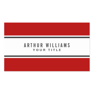 Red gray border modern stylish white professional pack of standard business cards