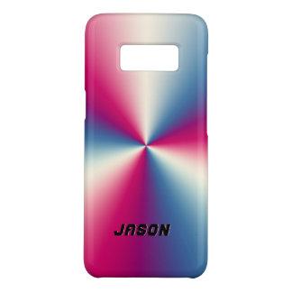 Red & Gray Stainless Steel Metallic Design Case-Mate Samsung Galaxy S8 Case