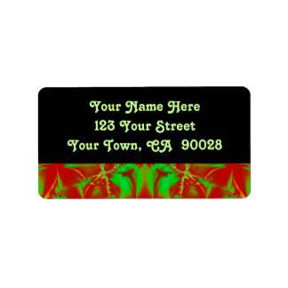 red green abstract address label