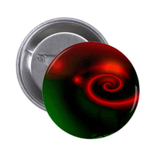 Red Green Abstract Painting 6 Cm Round Badge