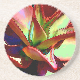 Red & Green Agave Coaster