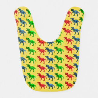 Red Green and Blue T-Rex Bibs