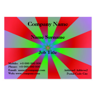 Red Green and Lilac Sunbeams Pack Of Chubby Business Cards