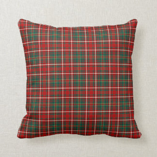 Red, Green and White Hay Clan Scottish Plaid Cushion