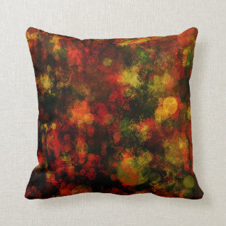 Red, Green and Yellow Jewel Tone Abtract Modern Cushion