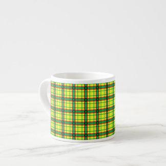 Red, Green and Yellow Plaid Espresso Mug