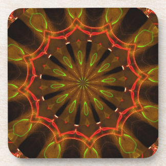 Red & Green Art Design Drink Coaster