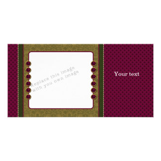 Red green beige design photo cards