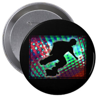 Red Green Blue Abstract Boxes Skateboard Pins