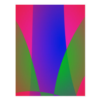 Red Green Blue Vivid Abstract Art Postcard