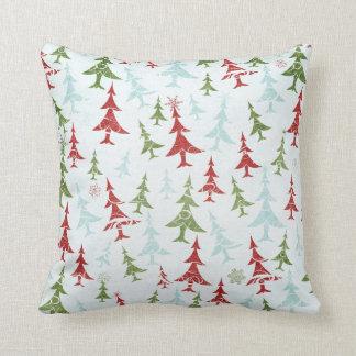Red, Green, Blue & White Christmas Season Cushion