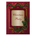 Red Green Christmas Holiday Party Personalised Announcements