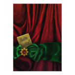Red Green Christmas Holiday Party Personalized Announcements