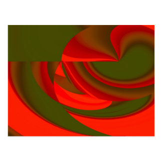Red & Green Cubist Abstract Post Card
