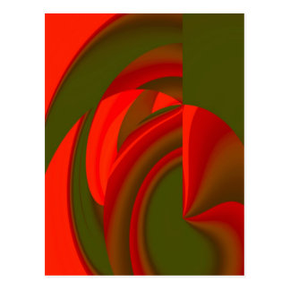 Red & Green Cubist Abstract Post Cards
