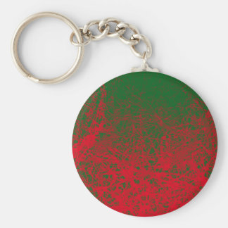 red green elephant basic round button key ring