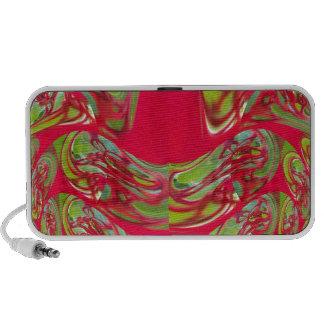 Red & Green Flora Vintage Hakuna Matata Gifts iPod Speaker
