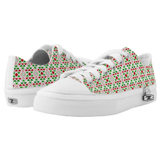 Red Green geometric Shoes