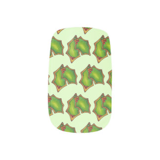 Red Green Holly Leaf Christmas Xmas Holiday Cookie Minx Nail Art