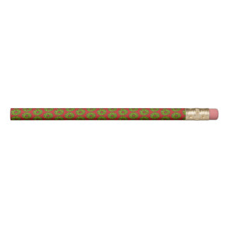 Red Green Holly Wreath Christmas Holiday Cookie Pencil