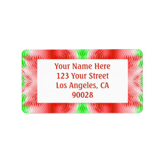 red green address label