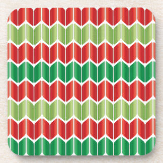 Red Green Large Knit Drink Coaster