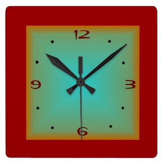 Red/Green> Minimalist Wall Clock