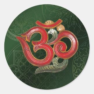 red green om aum yoga meditation hindu sticker