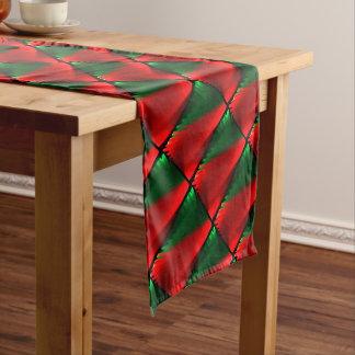 Red Green Pattern Short Table Runner