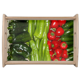 Red&Green Pepper Small Serving Tray
