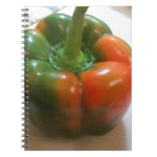 Red & Green Pepper Spiral Notebook