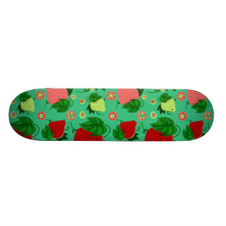 Red Green Pink Strawberries 21.6 Cm Skateboard Deck