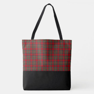 Red & Green Plaid Tote Bag-LRG