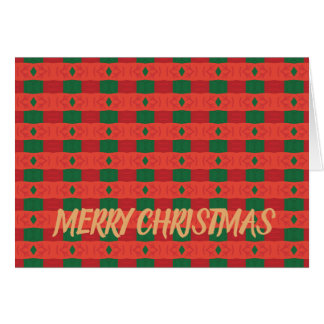 Red & Green Striped Christmas Greeting Card
