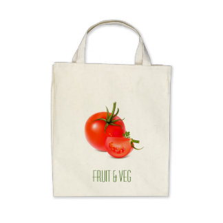 Red Green Tomato Food Art Canvas Bag