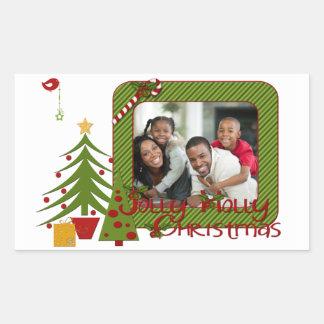 Red, Green, White Christmas Photo Sticker