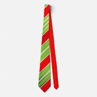 Red Green White Christmas Stripes Tie